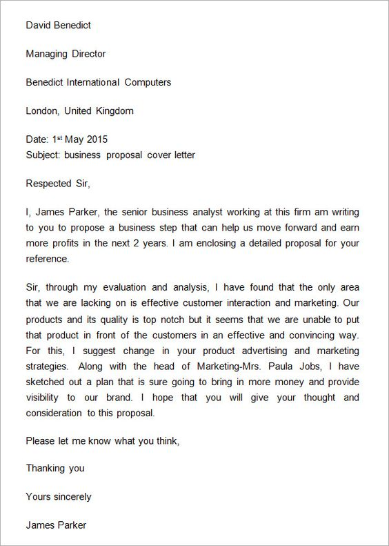 back gallery for business plan cover letter with business proposal – Cover Letter Business Proposal
