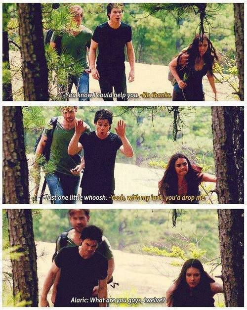 They're so funny together and I love Alaric being the referee!