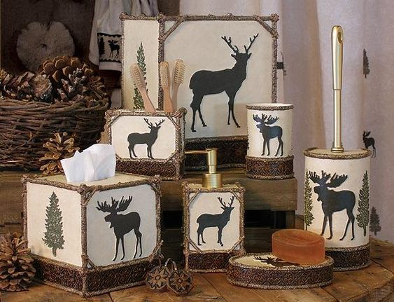 Moose Bathroom Accessories And Cabin Bathrooms On Pinterest