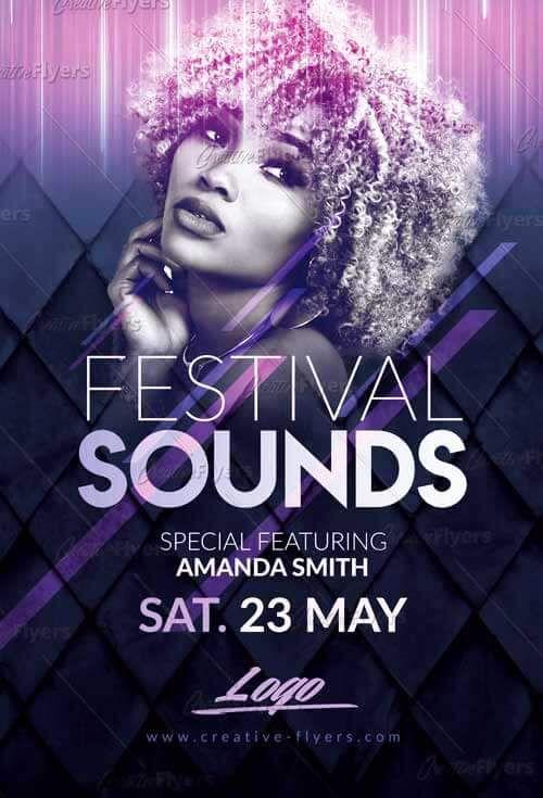 Festival Music Flyer Templates Psd Music Poster Design