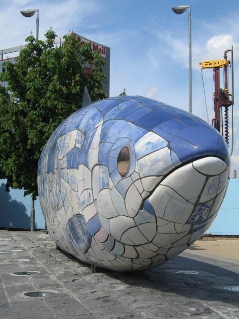 The Big Fish sculpture, Belfast Waterfront, Co Antrim, Northern Ireland.