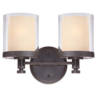 Alcott Hill Fortey 2 Light Bath Vanity Light & Reviews | Wayfair