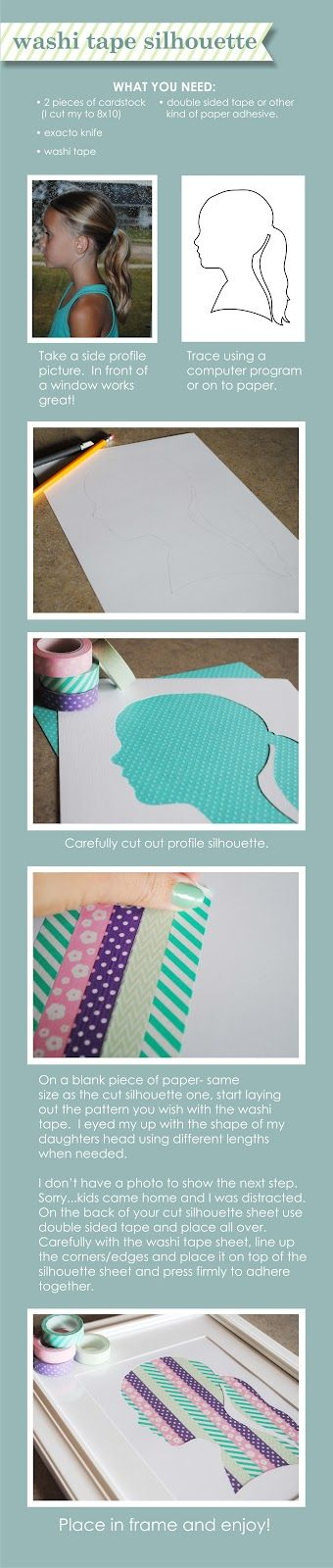 Winks & Daisies: DIY Washi Tape Silhoutte