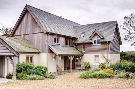 New timber frame barn house in Cornwall by Roderick James Architects
