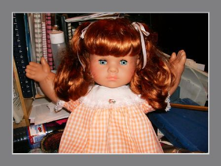 I love a zapf doll....mine was blond and had two teeth at the bottom of her mouth.