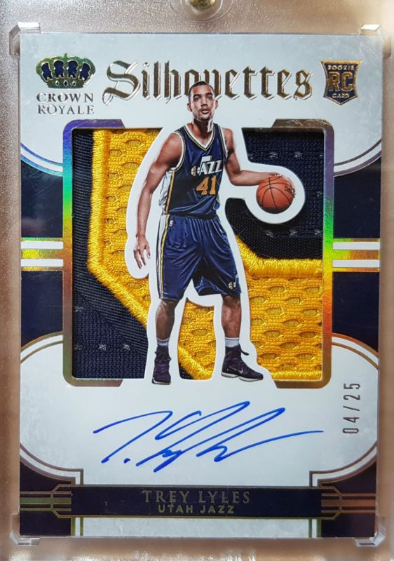 2015-16 Panini Preferred Trey Lyles RC Silhouettes Patch 04/25