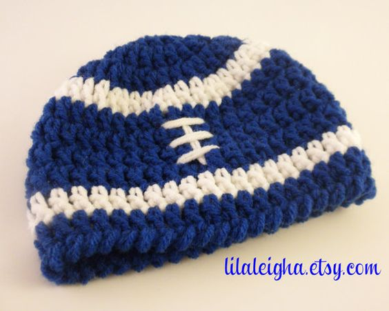 Crochet Hair Indianapolis : ... www.etsy.com/listing/158578091/indianapolis-colts-football-hat-0-3m-3