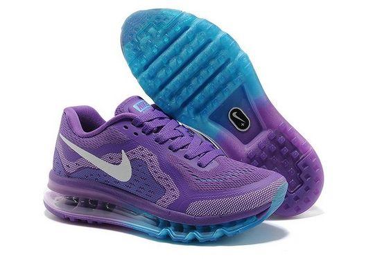 Nike Air Max 2014 Women's Shoes Purple / Silver / Blue