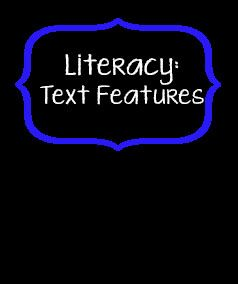 Ideas for teaching about text features