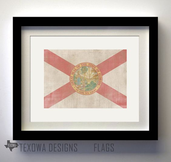 Florida Flag Print by texowadesigns on Etsy, $17.00