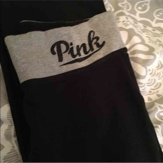 VS YOGA PANTS SMALL Small VS yoga pants Washed twice to get more comfy but not worn Bootleg Small; regular length  Has secret pocket behind logo in the inside  Given as a gift; I'm just too tall  Washed once to see if it fit better.. It didn't.. Never worn PINK Victoria's Secret Pants