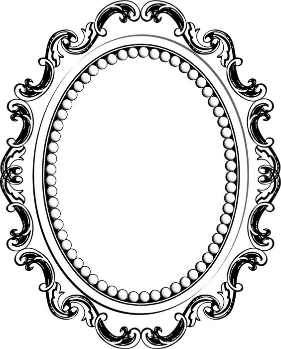 photos cadre baroque ovale dessin cadres baroque photos et baroque