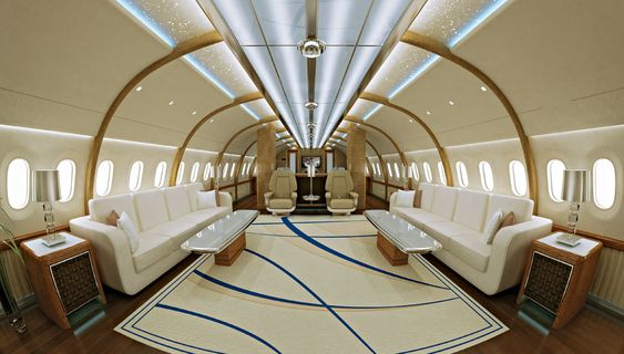 A boeing 787 dreamliner vip jumbo jet with a custom for Interior 787 dreamliner
