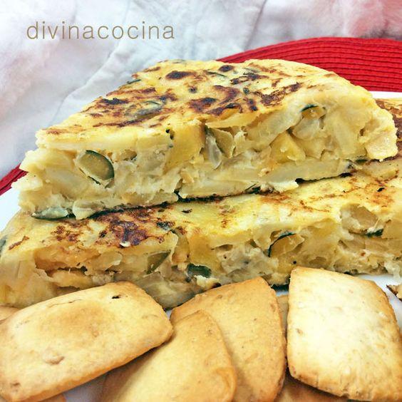 Tortilla de calabacin y patata cebolla1 recetas de - Tortilla de calabacin y cebolla ...