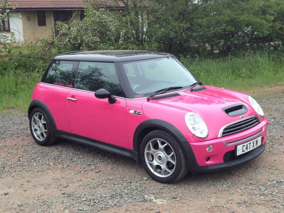 pink mini coopers mini coopers and hot pink on pinterest. Black Bedroom Furniture Sets. Home Design Ideas