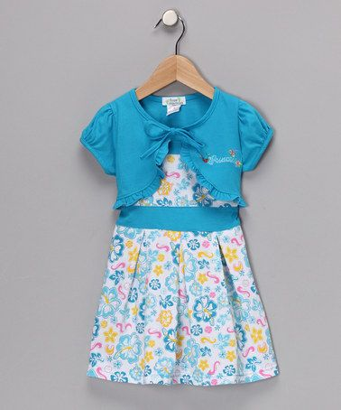 # fall and #zulily!!!!!Take a look at this Turquoise Floral Dress & Shrug - Toddler & Girls by Soak Up Sunshine: Girls' Apparel on #zulily today!