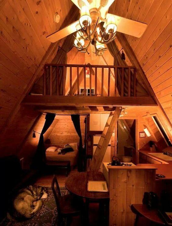 A frame home 39 s interior frame log cabin interior a for A frame cabin interior design