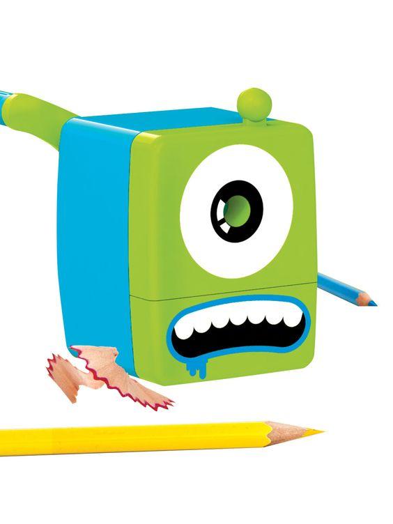 Kleines Monster Stifte-Spitzer grün-blau 5x8x9cm. Aus der Kategorie Gadgets Geschenke Shop / Büro & Arbeitskollegen. Dieses hungrige kleine Monster hat es auf Ihre Bleistifte und Buntstifte abgesehen und gibt nicht auf, bevor der Monster-Bleifstiftspitzer nicht alle Stifte wieder spitz gemacht hat!