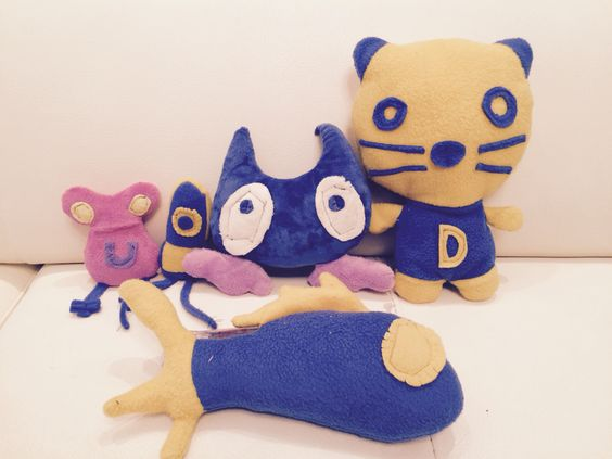 Plushy toys made from kids doodles