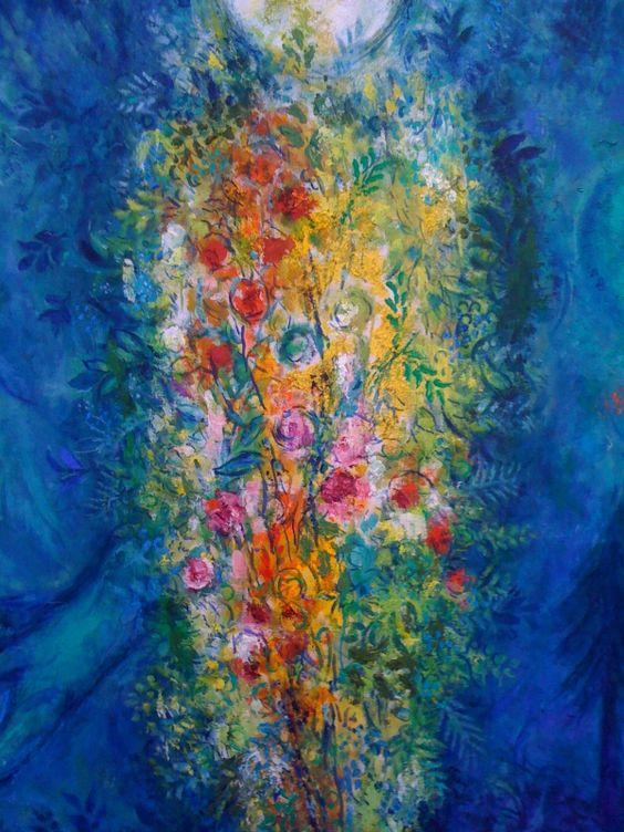 Marc Chagall - L'arbre de vie (détail de Adam et Ève chassés du Paradis)