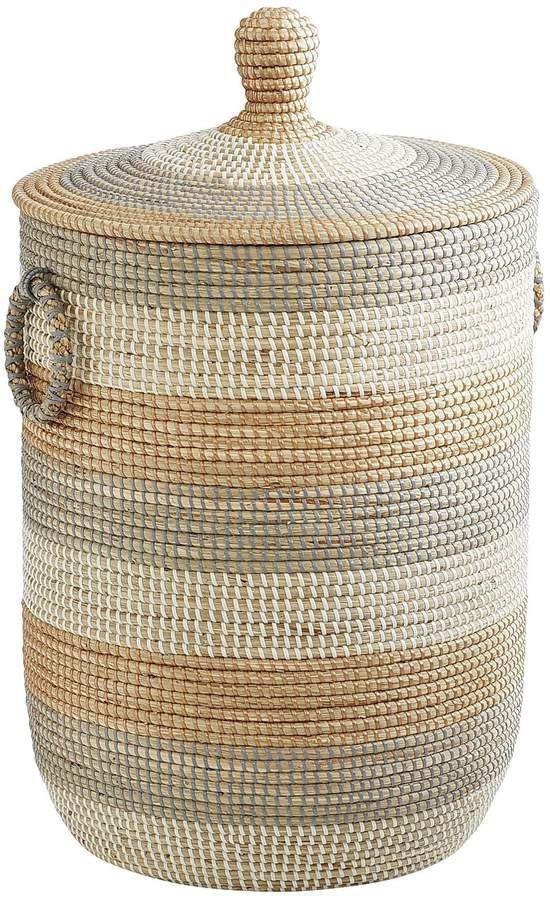 Isla Natural Seagrass Laundry Hamper Weaving Basket Traditional Zimmergestaltung Haus Einrichten Zimmer Einrichten