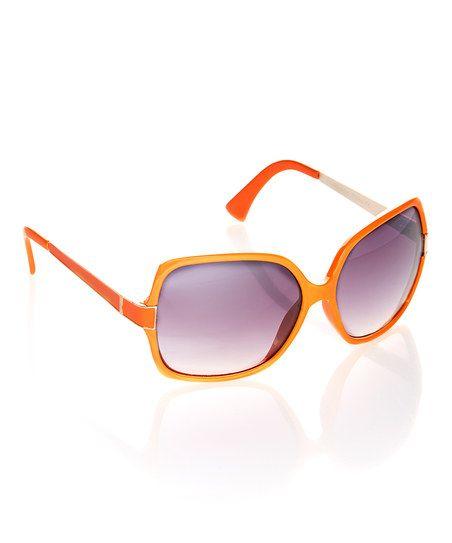 Orange Square Sunglasses