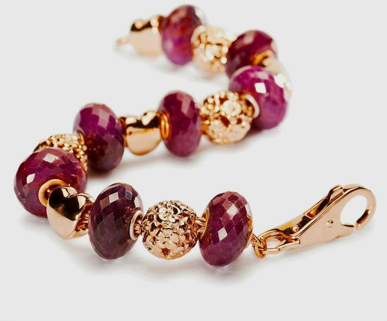 Gold and Ruby Trollbeads