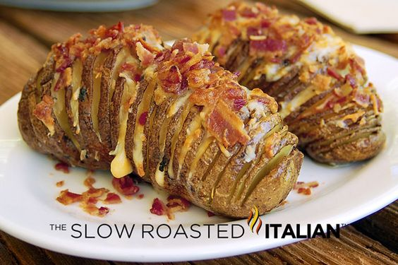 The Slow Roasted Italian: Bacon Cheddar Hasselback Potatoes