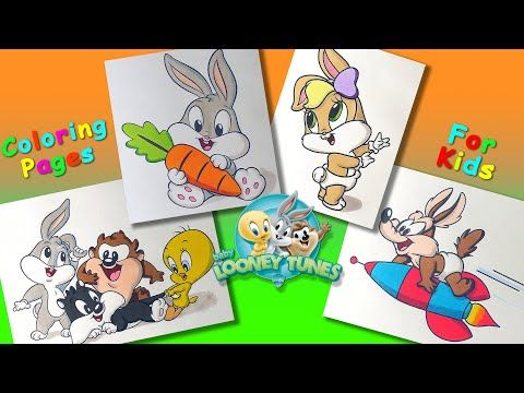 Baby Looney Tunes Cartoon Characters Coloring Pages Forkids Learncolors With Looneytunes Y Baby Looney Tunes Looney Tunes Cartoons Looney Tunes Characters