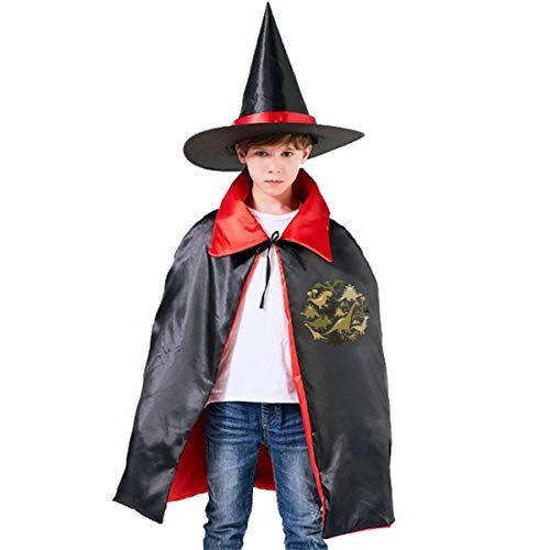 Horizon T Dinosaurs Png Halloween Wizard Witch Kids Cape With Hat Cloak For Party Toddler Halloween Costumes Couple Halloween Costumes Halloween Party Costumes