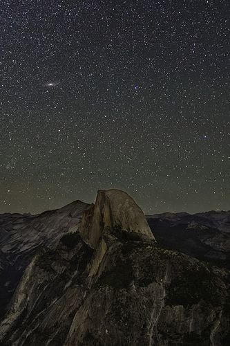 Andromeda Rising over Half Dome | by Bill Shupp