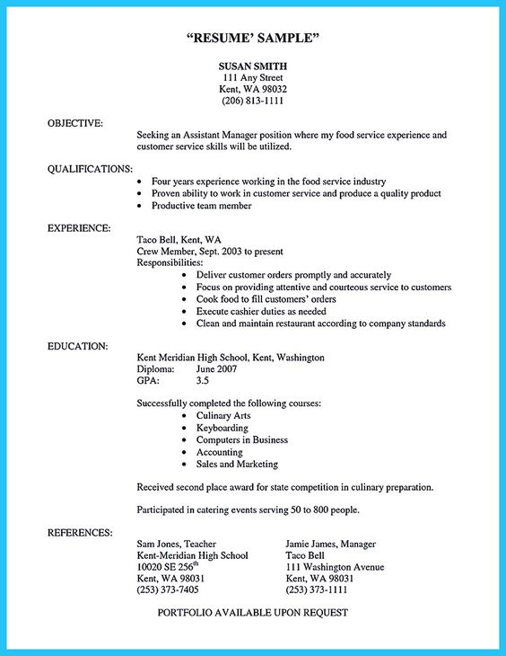 Cool Excellent Culinary Resume Samples To Help You Approved Check More At Http Snefci Org Excellent Culinary Resume Samples Help Approved