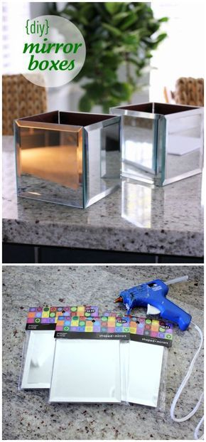 DIY Mirror Boxes DIY Dollar Store crafts & Decorating ideas