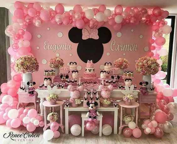 Fiesta De Minnie Mouse Rosa Dulce Minnie Mouse Birthday Decorations Minnie Mouse Birthday Party Decorations Minnie Mouse Birthday Theme