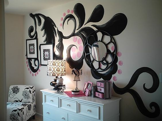 I will probably do something like this to my walls someday.