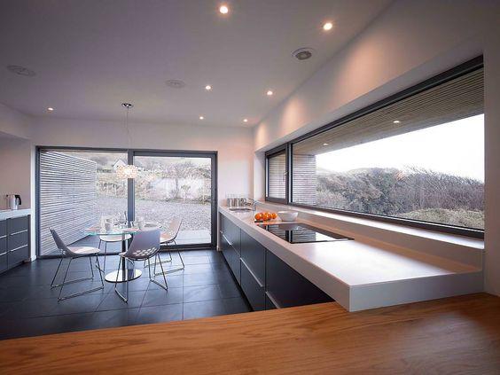 Дизайн кухни с панорамными окнами Идеи для дома Pinterest - grimm küchen karlsruhe