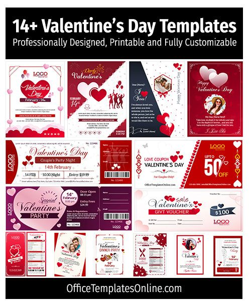 14 Valentines Day Templates For Ms Word Cards Flyers Invitations Brochures In 2021 Free Valentines Day Cards Valentines Day Card Templates Party Invite Template