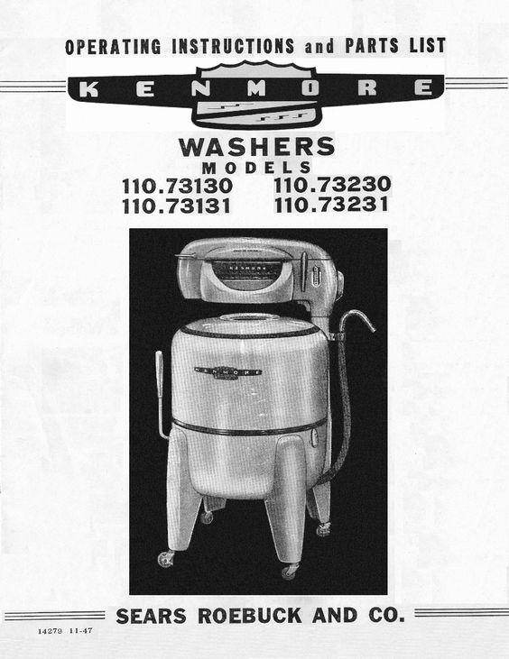 kenmore washing machine user manual