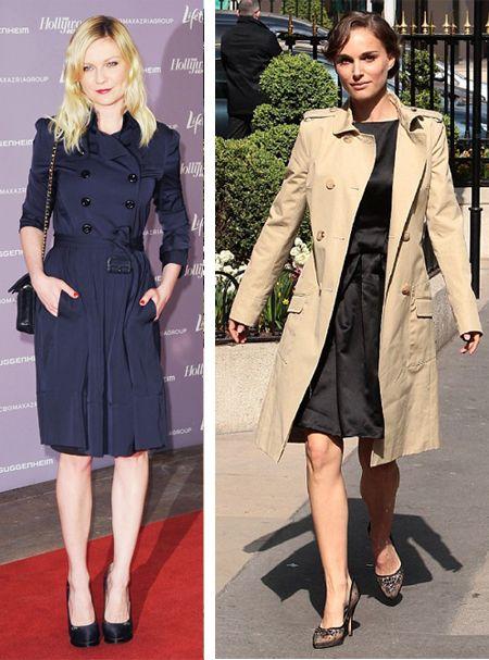 Style Showdown: Does Kirsten Dunst or Natalie Portman rock her trench coat better?