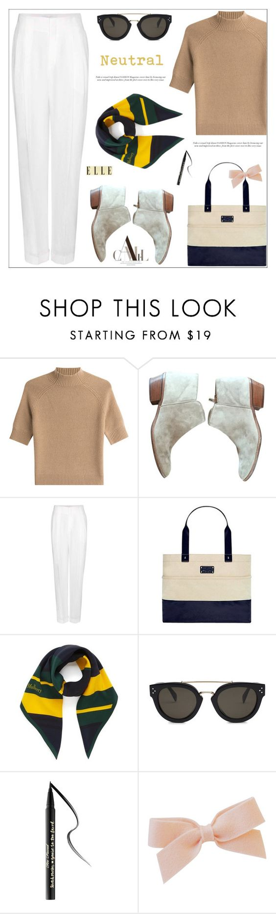 """Neutral"" by arohii ❤ liked on Polyvore featuring Theory, Sam Edelman, Chloé, Kate Spade, Mulberry, CÉLINE, Too Faced Cosmetics, chloe and cashmere"