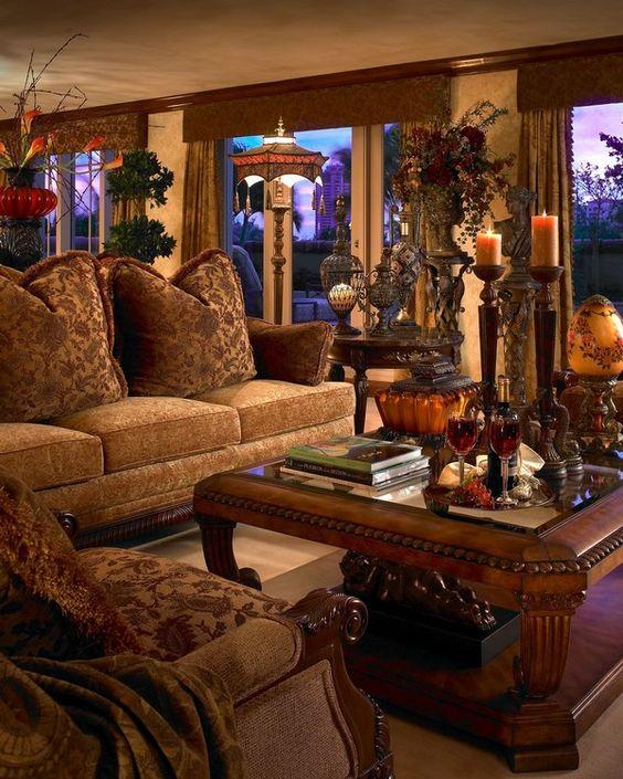 Inside Luxury Living Rooms: Luxury Interior Design In Rich Jewel Tones By Perla Lichi