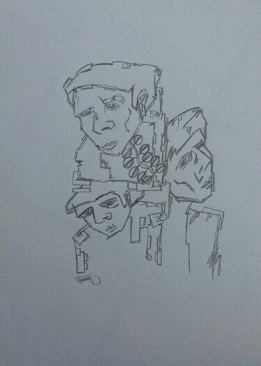 Titel: die Drei 21 / 29,7 cm  Bleistift auf Papier  www.stevenkrogmann.com   #art #kunst #germany #europa #artwork #artist #search #gallery #galerie #investment #anlage #Zeichnung #skizze #pastell #hildesheim #aufgabe #hirn #drei #nornen #symbol #leben #kunstwerk #entwickeln #deutschland #eu #european #europa #germany