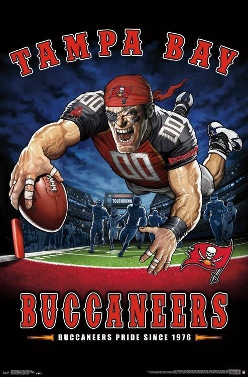 Tampa Bay Buccaneers End Zone Mascot Poster 22x34 Nfl Football 15998 Nflfootball Tampa Bay Buccaneers Buccaneers Tampa Bay Buccaneers Football