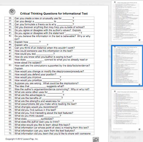a questionnaire on critical reasoning These examples of critical-thinking interview questions to ask candidates assess  analytical thinking and creative skills and their decision-making process.