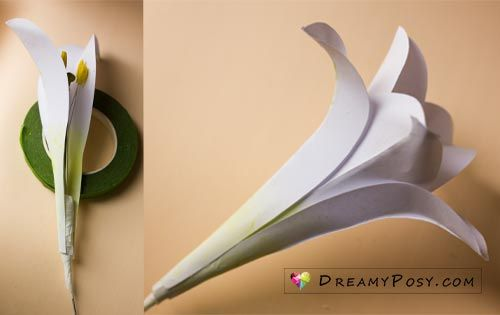 How To Make Paper Easter Lily Flower Free Template Easter Lily