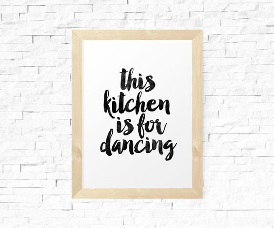 Kitchen Quote Kitchen Printable Quote by MotivationalThoughts