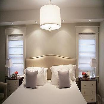 Greige Paint, Contemporary, bedroom, Benjamin Moore Classic Gray, Aubrey & Lindsay