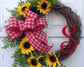sunflower wreath - Google Search