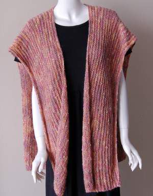 Beginner Ruana Or Stole Knitting Pattern - seam sides to create vest Knitti...