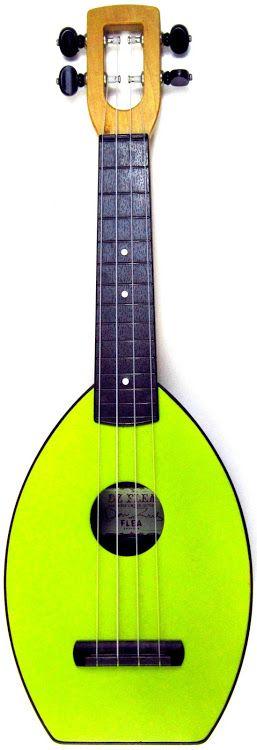 "My Magic Fluke ""Limon"" Flea Soprano at Ukulele Corner ~  its very green --- https://www.pinterest.com/lardyfatboy/"